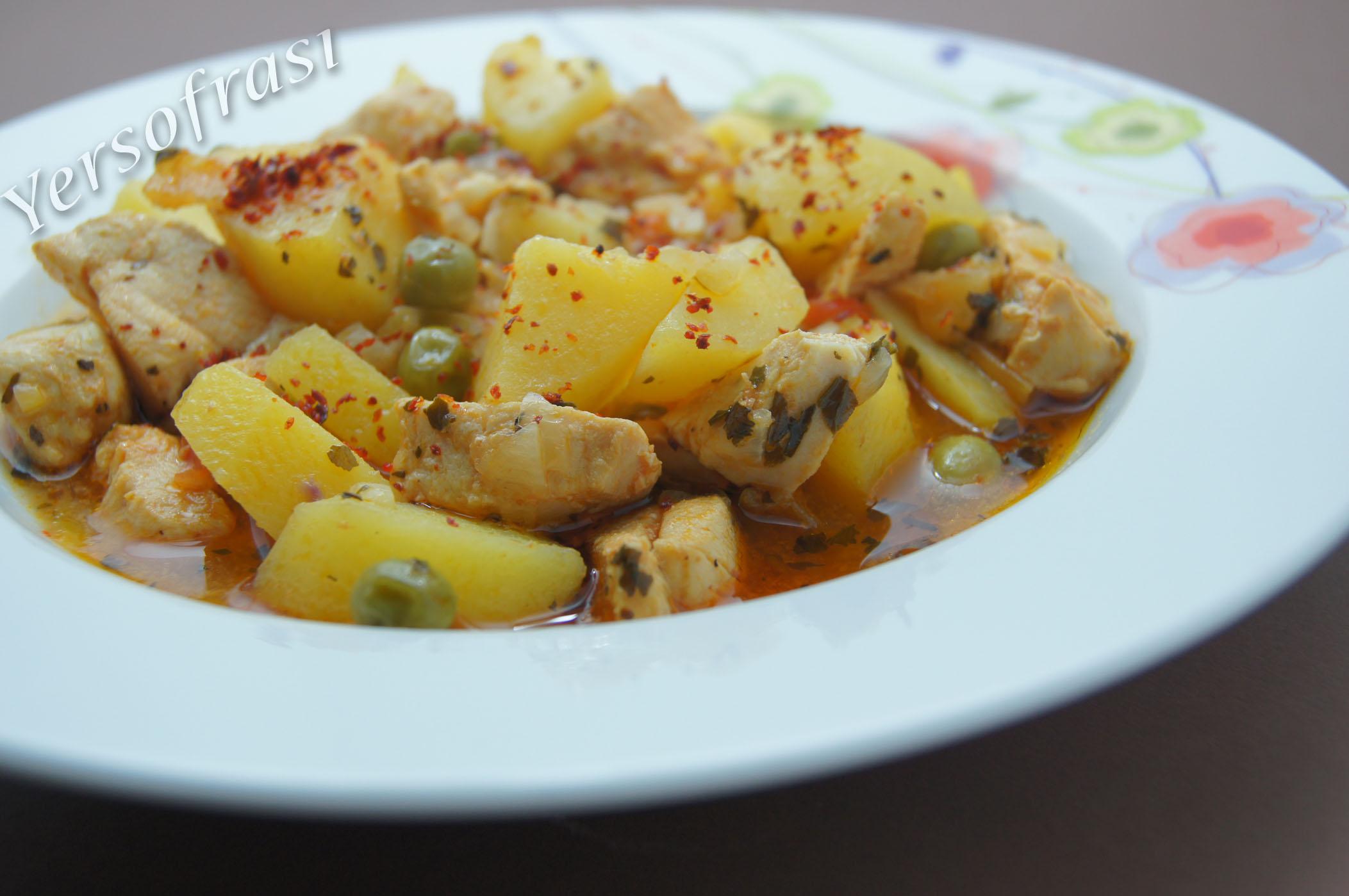 Tavuklu Patates Yemekleri Tavuklu Patates Yemeği