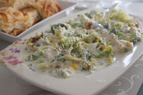 gobek marullu tavuklu salata